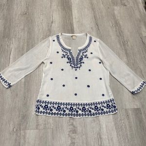 Lucky Brand Embroidered Chiffon Blouse